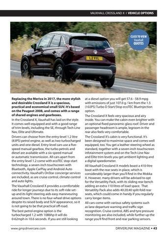 Page 43 of Vauxhall Crossland X