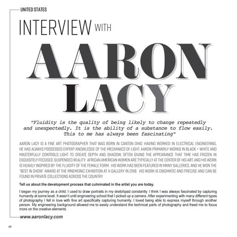 Page 18 of INTERVIEW | AARON LACY