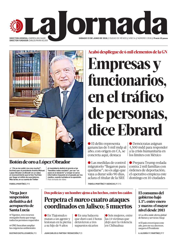 La Jornada, 06/22/2019 by La Jornada - issuu