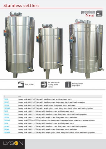 Page 24 of Stainless Honey Tanks