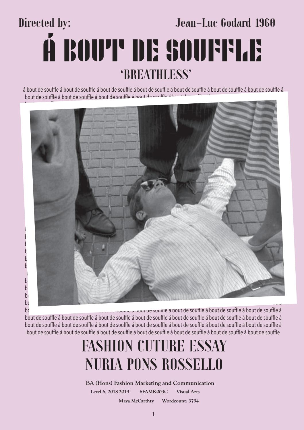 Fashion Culture Essay Breathless By Nuria Pons Issuu