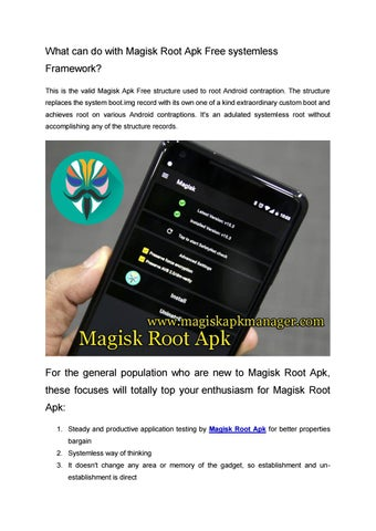 Magisk Root Apk by Colleen Chu - issuu