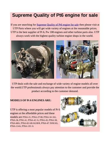 Pt6a Engine Price