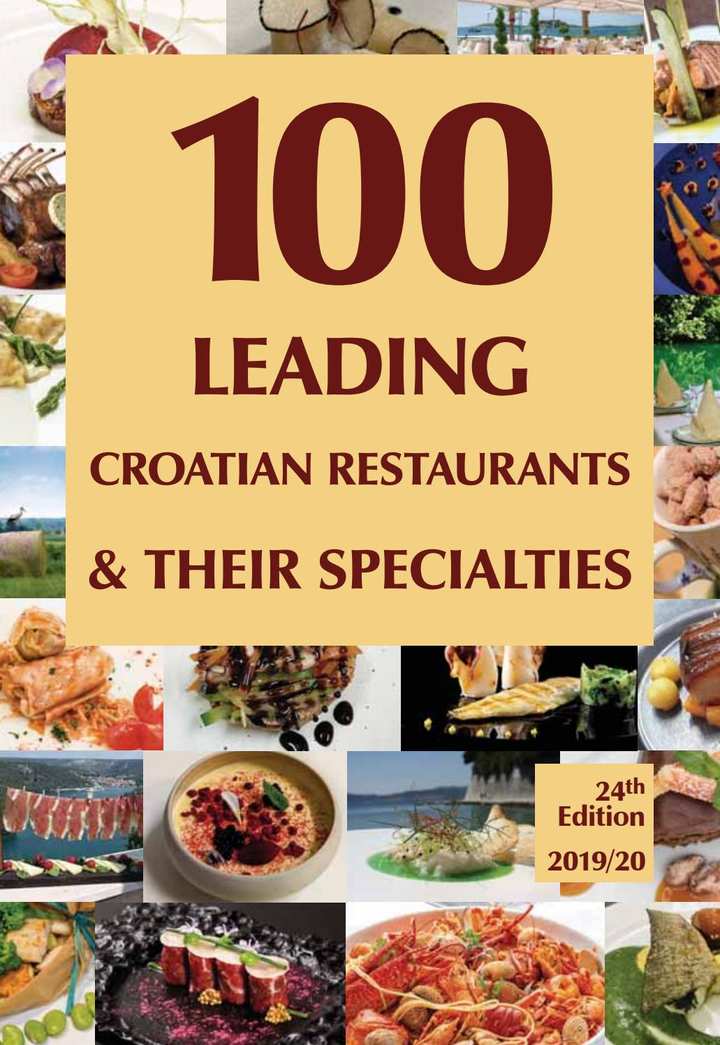 100 Leading Croatian Restaurantes And Their Specialities 2019 20