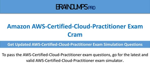 Improve Score Better With AWS-Certified-Cloud-Practitioner