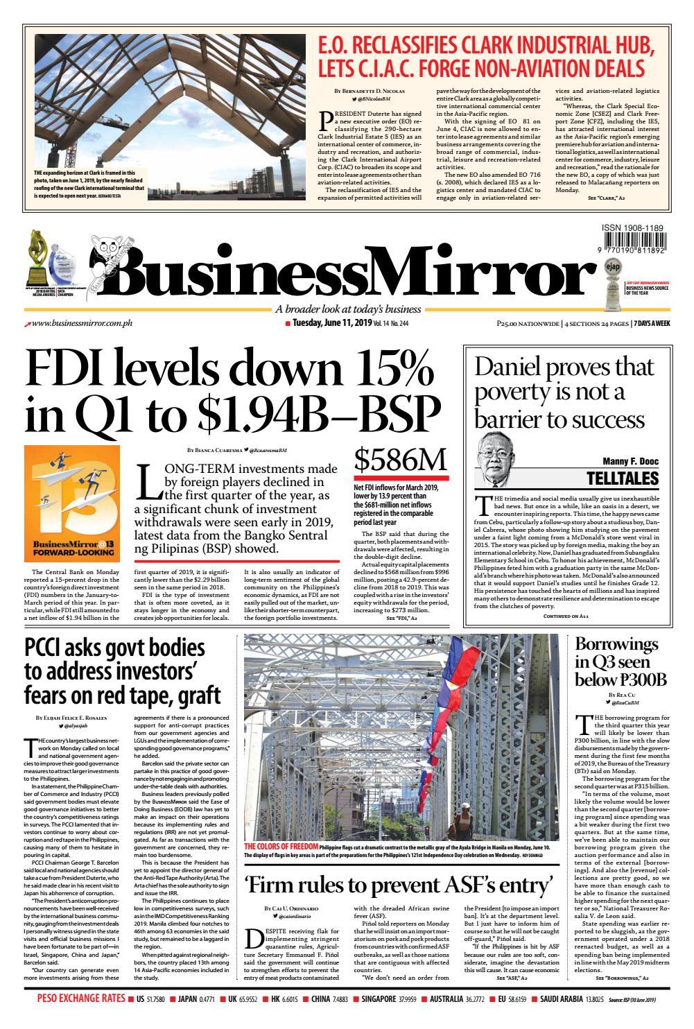 BusinessMirror June 11, 2019 by BusinessMirror - issuu