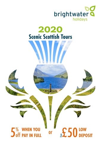 Iona Days Schedule Of Events 2020.Brightwater Holidays 2020 Scenic Scotland Uk By Specialist