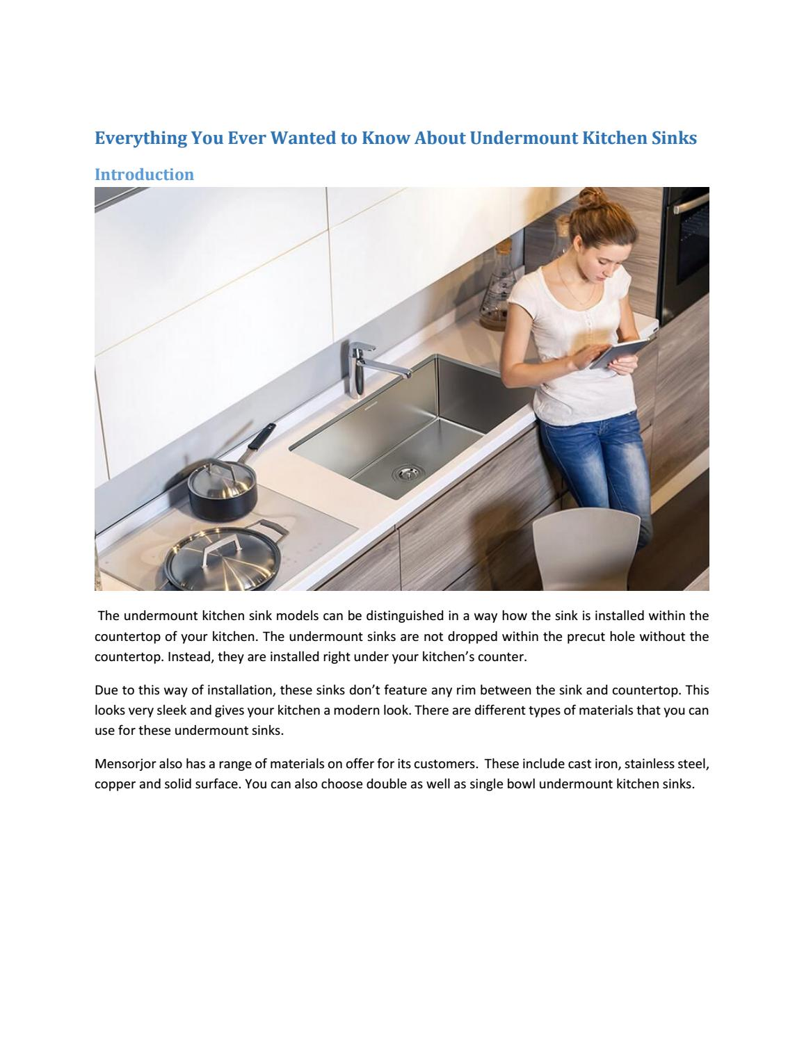 Everything You Ever Wanted To Know About Undermount Kitchen Sinks By Mensarjor Issuu