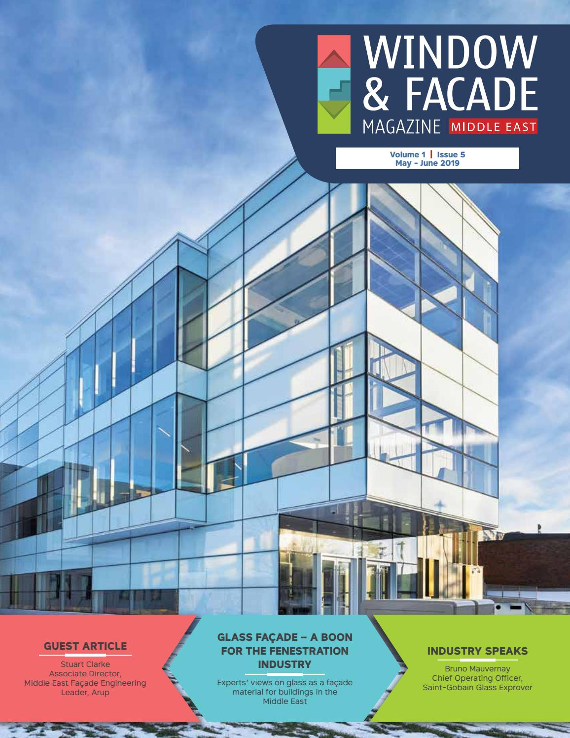 Window Facade Magazine Middle East May June 2019 by F & F