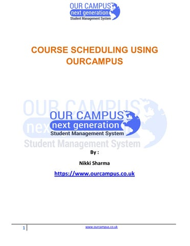 Course Scheduling Using Our Campus | School Management Software UK