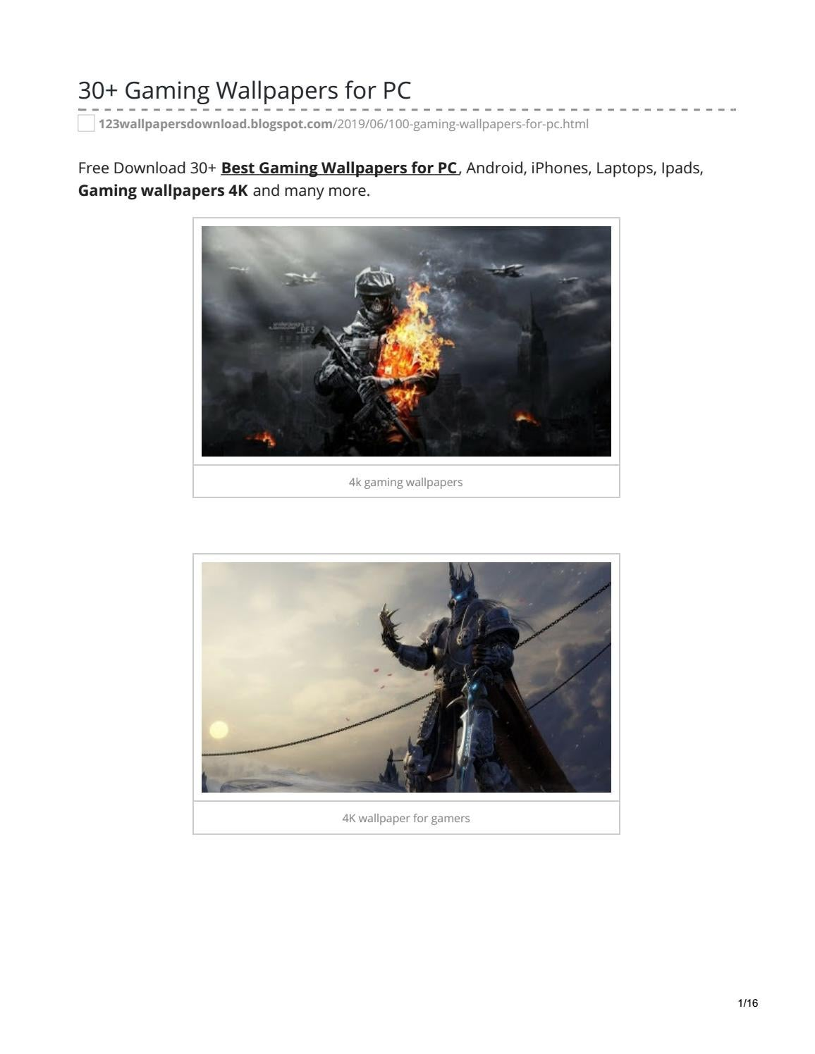 Gaming Wallpapers For Pc By Answermeangel99 Issuu