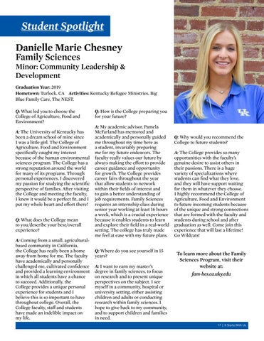 Page 17 of Student Spotlight - Danielle Marie Chesney