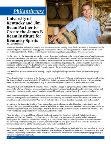 Page 18 of Philanthropy - James B. Beam Institute for Kentucky Spirits