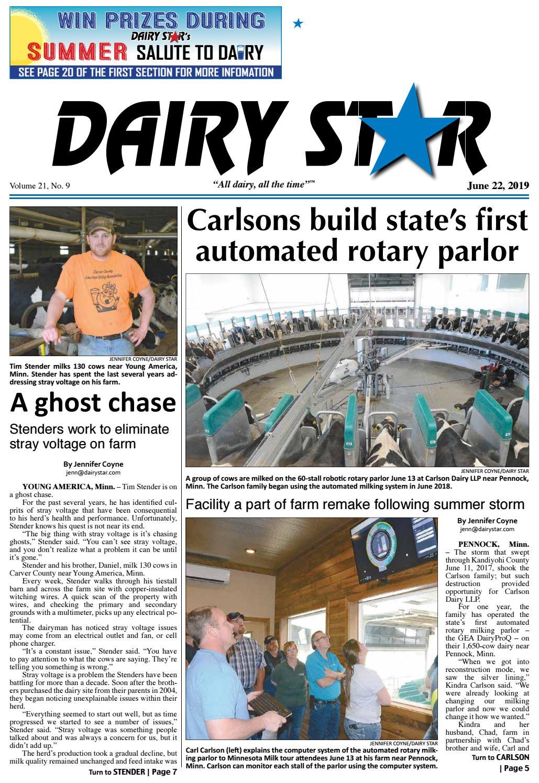 June 22, 2019 Dairy Star - Zone 1 by Dairy Star - issuu