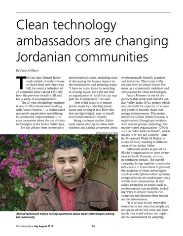 Page 14 of Clean technology ambassadors are changing Jordanian communities