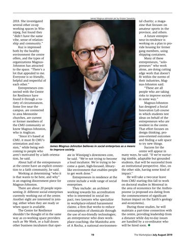 Page 19 of Business with a purpose at Canadian Mennonite University