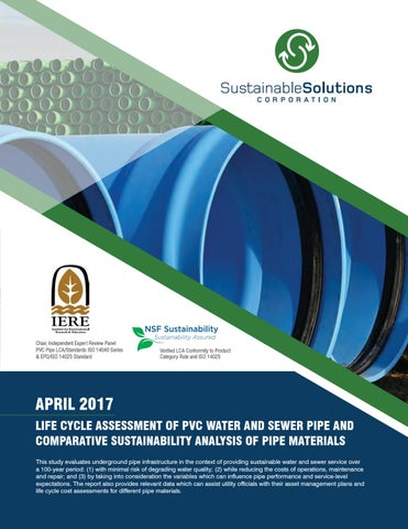 Life Cycle Assessment of PVC Water and Sewer Pipe and Comparative