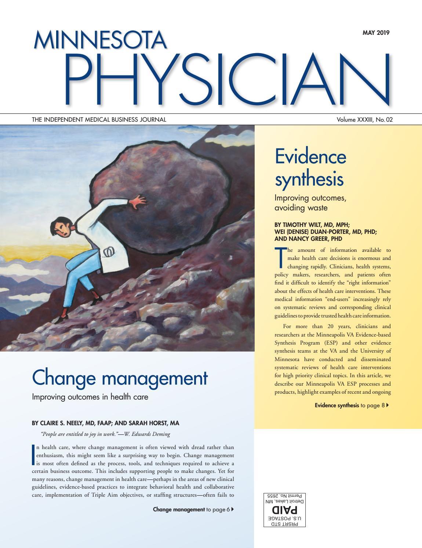 Minnesota Physician May 2019 by Minnesota Physician Publishing - issuu