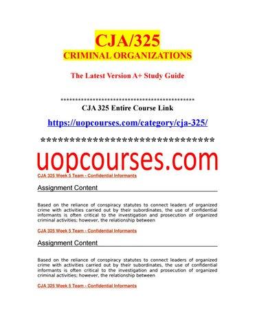 CJA 325 Week 5 Team - Confidential Informants (4)- uopstudy