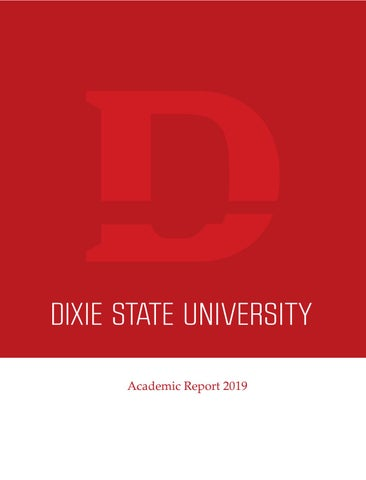 Dixie State University's 2019 Academic Report by Dixie State