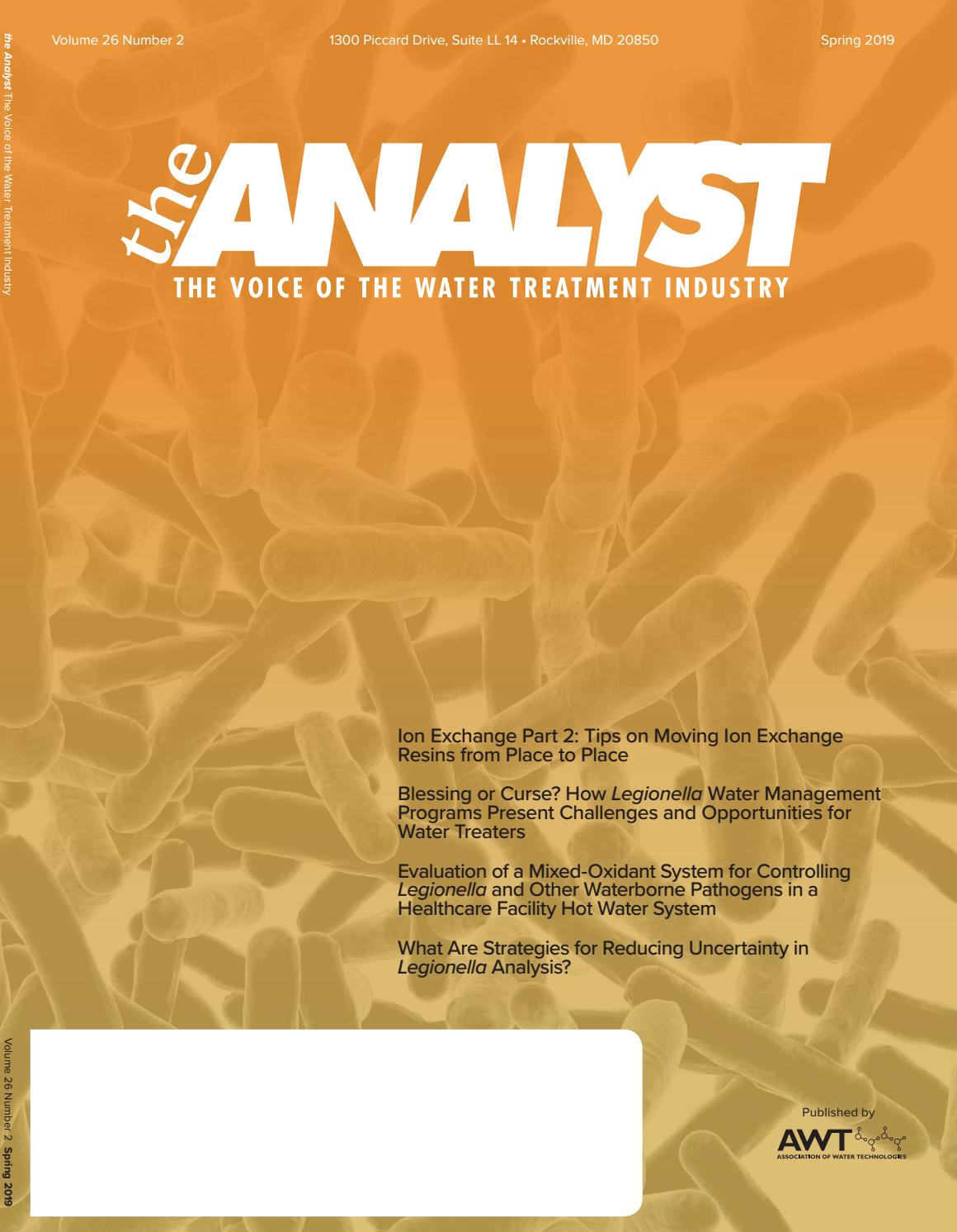 2019 Spring Analyst by Association of Water Technologies - issuu