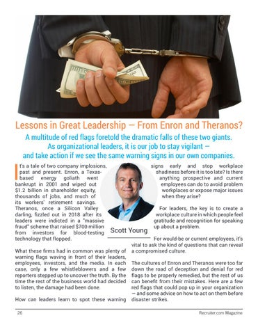 Page 26 of Lessons in Great Leadership — From Enron and Theranos?