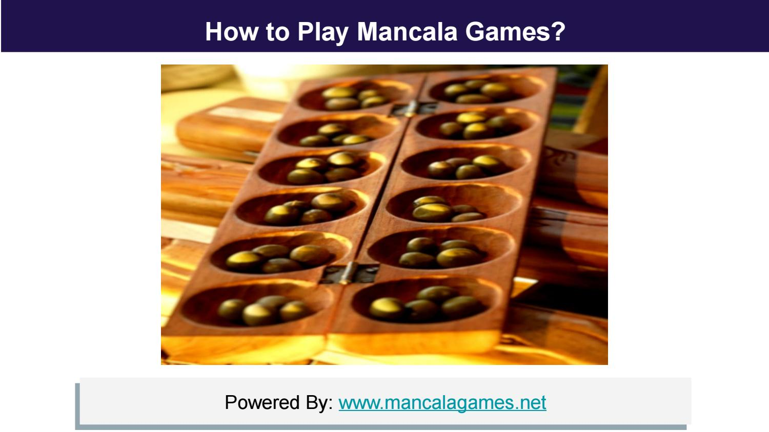 How To Play Mancala Game By Ismail Issuu
