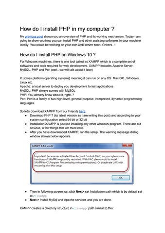 How do I install PHP in my computer ? by Decode Web - issuu