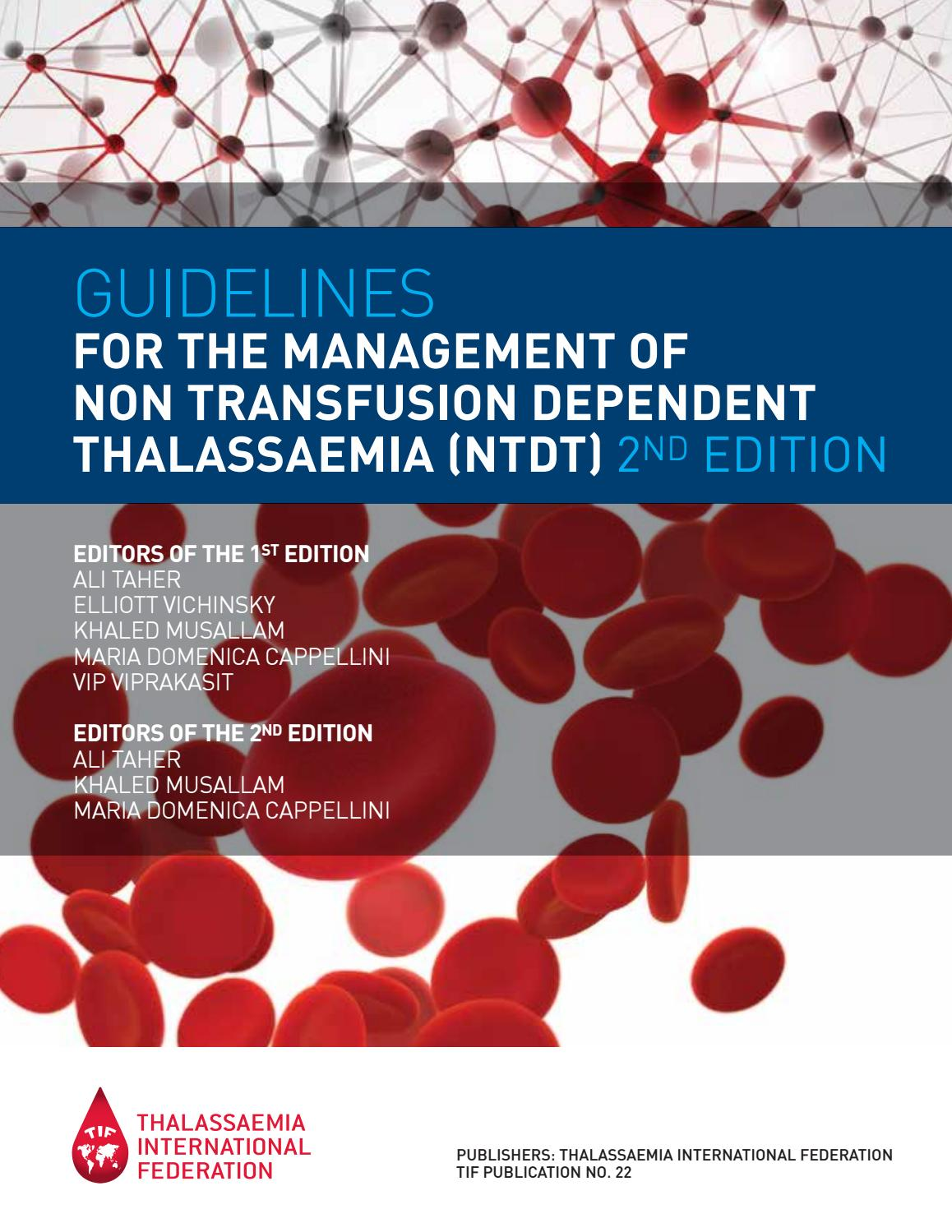 nuova versione online qui stile squisito Guidelines for the Management of Non-Transfusion Dependent ...