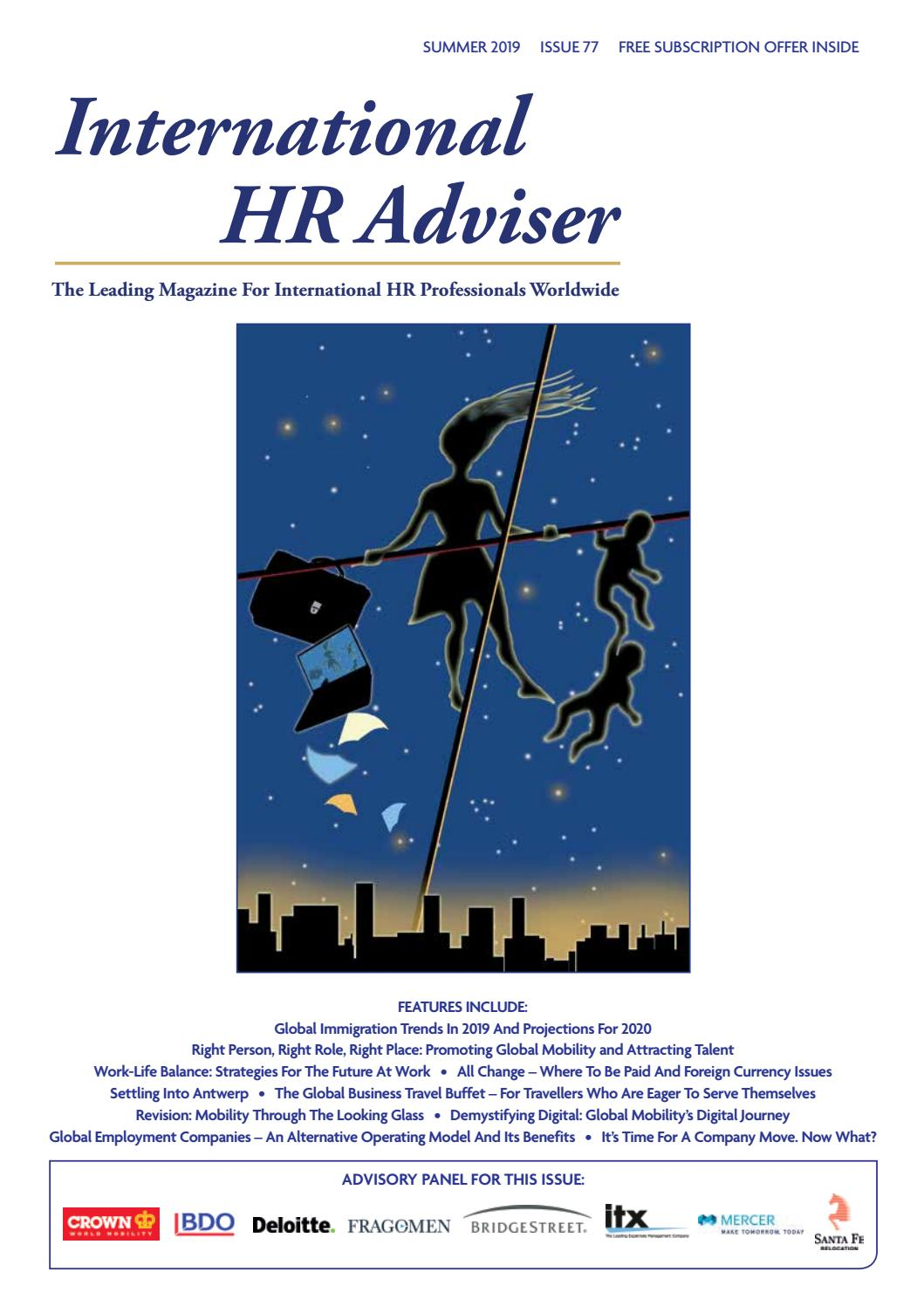 International HR Adviser Summer 2019 by International HR