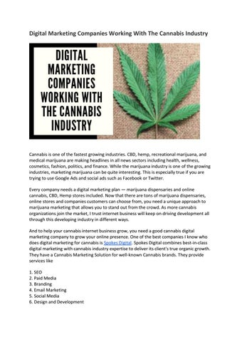 Digital Marketing Companies Working With The Cannabis