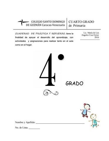 Cuaderno Práctica Y Refuerzo Para 4º Grado De Primaria By Macruzferrer Issuu