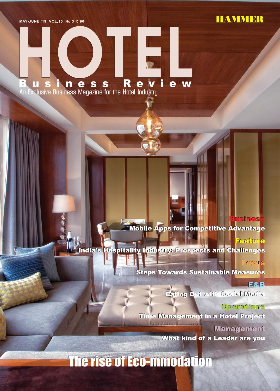 Hotel Business Review May June 2019 By Hammer Publishers