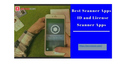 Unique id and passport scanner | Acurascan by Accura Scan