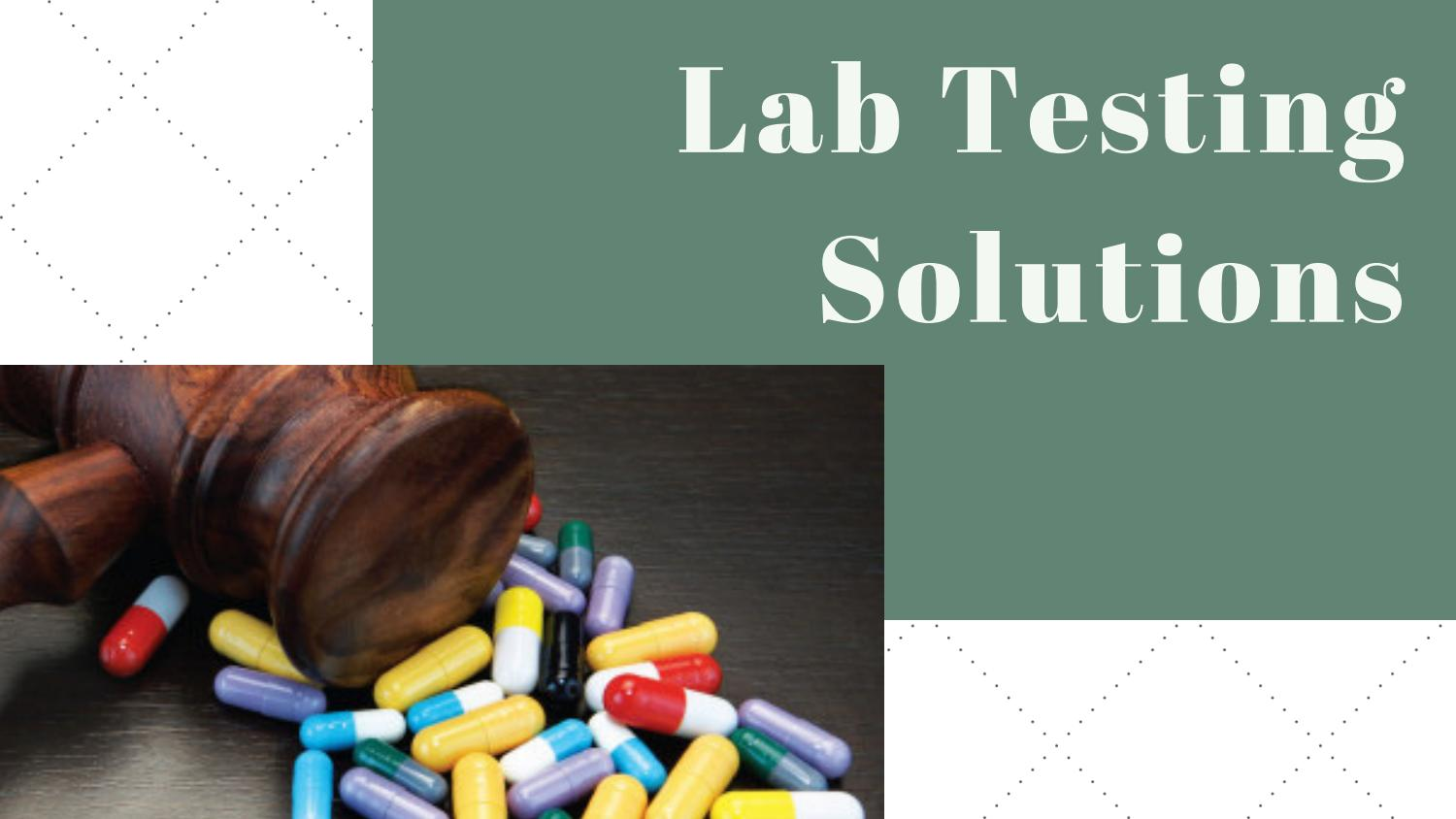 Drug Testing and Screening Service by Lab Testing Solutions