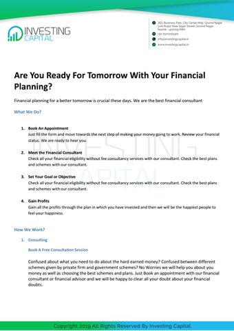Best Financial Consultant Advisor In Nashik Effective Investment Planning By Investingcapital8 Issuu