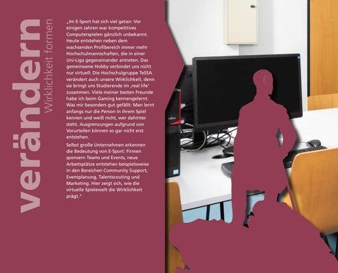 Page 18 of Sarah Marie Lange organisiert zusammen mit einer Handvoll Studierender TeSSA – das E-Sport-Team an der H-BRS.