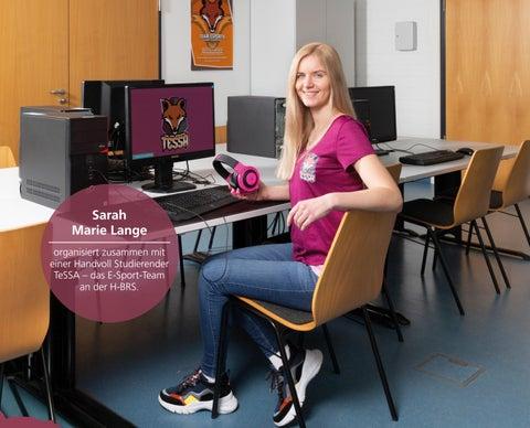 Page 19 of Sarah Marie Lange organisiert zusammen mit einer Handvoll Studierender TeSSA – das E-Sport-Team an der H-BRS.