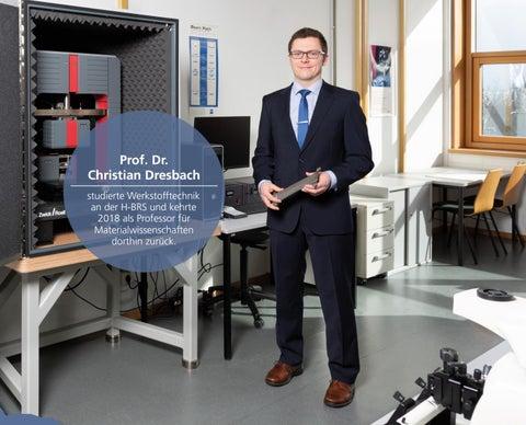 Page 29 of Prof. Dr. Christian Dresbach studierte Werkstofftechnik an der H-BRS und kehrte 2018 als Professor für Materialwissenschaften dorthin zurück.
