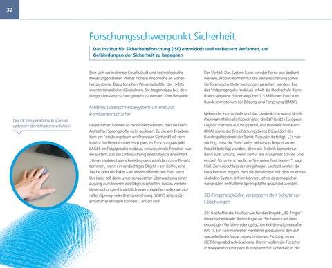 Page 32 of Forschungsschwerpunkt Sicherheit Das Institut für Sicherheitsforschung (ISF) entwickelt und verbessert Verfahren, um Gefährdungen der Sicherheit zu begegnen