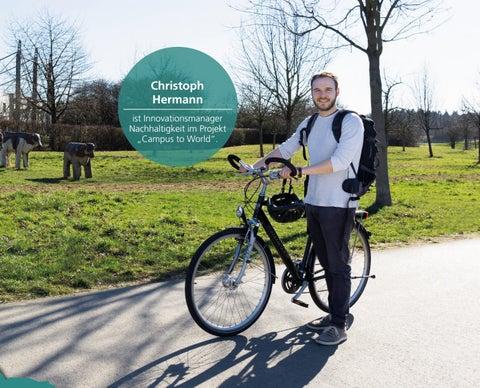 """Page 43 of Christoph Hermann ist Innovationsmanager Nachhaltigkeit im Projekt """"Campus to World""""."""