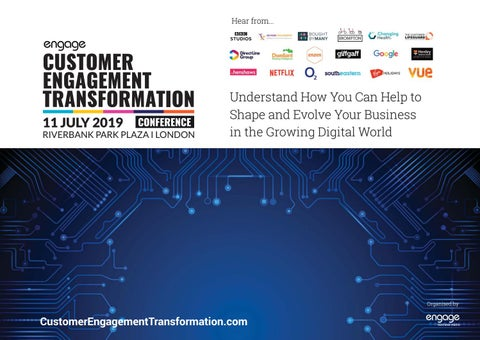 2019 Customer Engagement Transformation Conference Preview Guide by