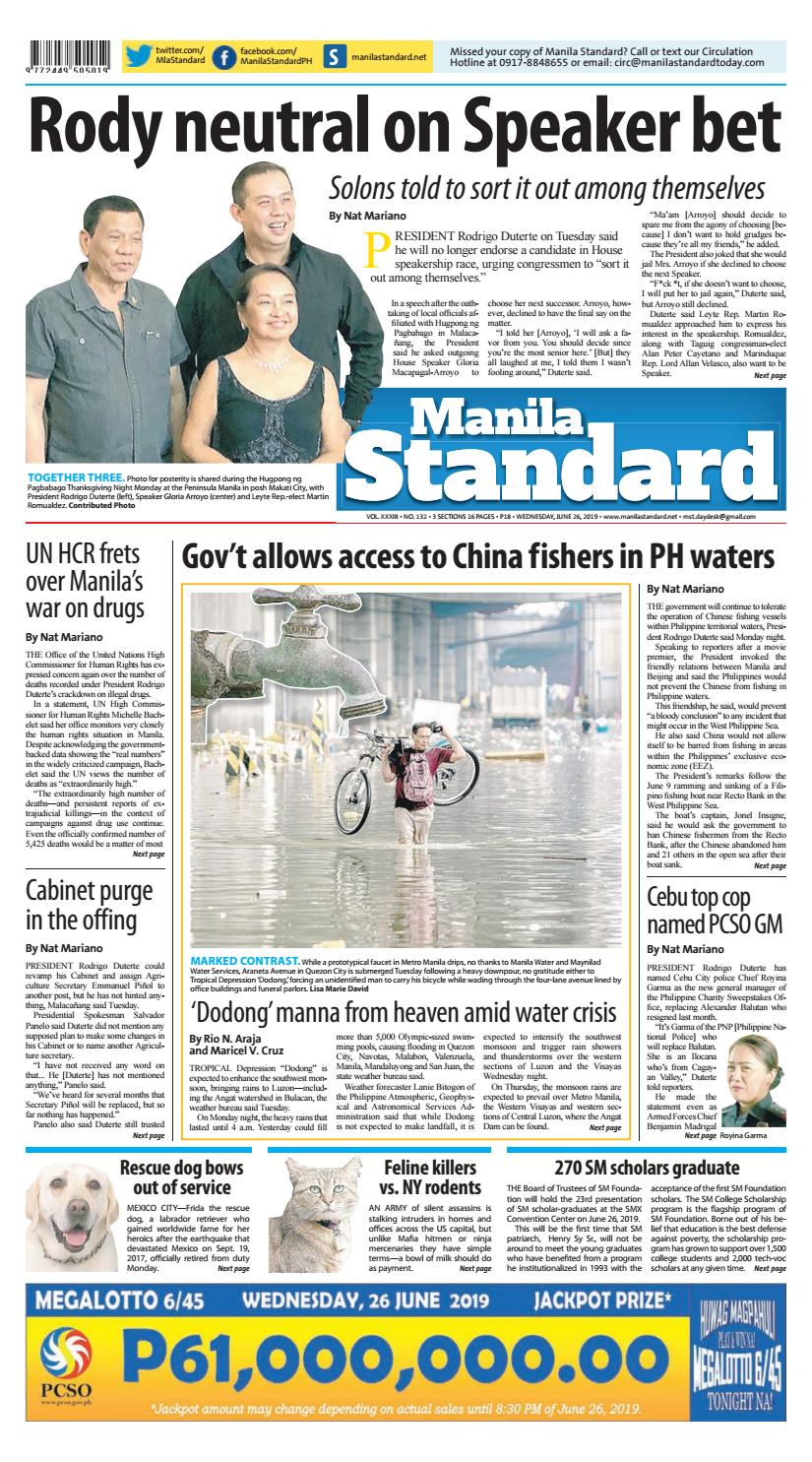 Manila Standard - 2019 June 26 - Wednesday by Manila Standard - issuu