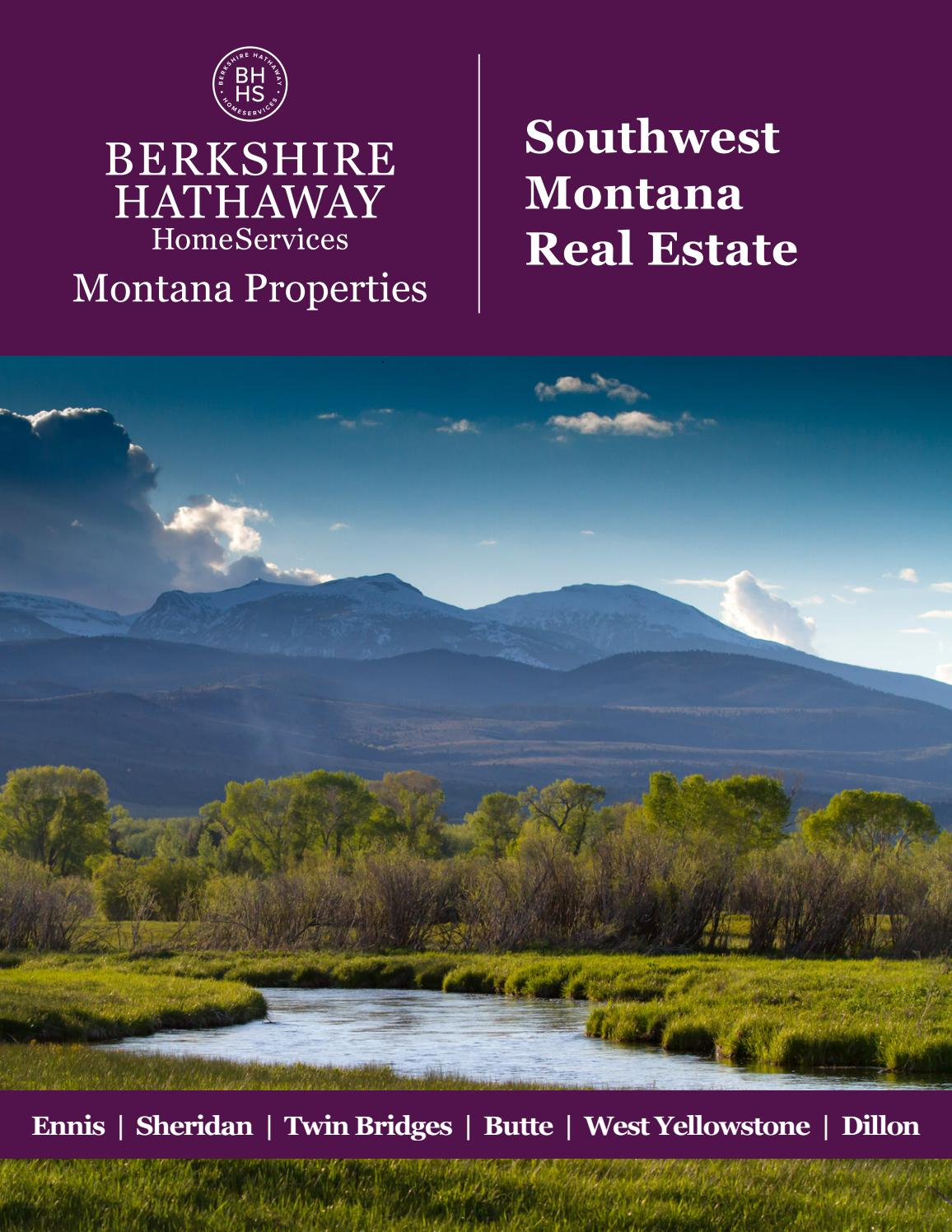 2019 Summer Southwest Montana Real Estate By Berkshire Hathaway Homeservices Montana Properties