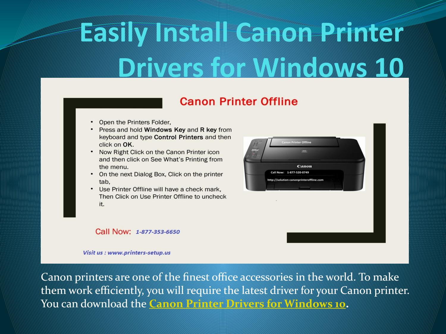 Canon printers drivers for windows 20  canon printer Offline by ...