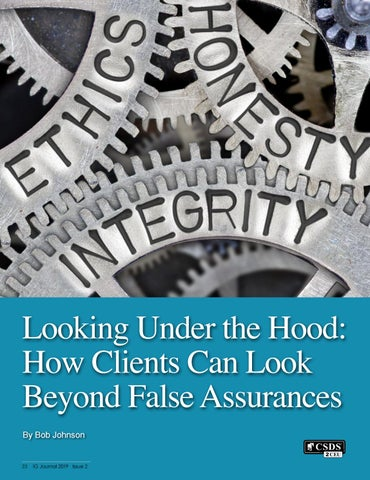 Page 24 of Looking Under the Hood: How Clients Can Look Beyond False Assurances