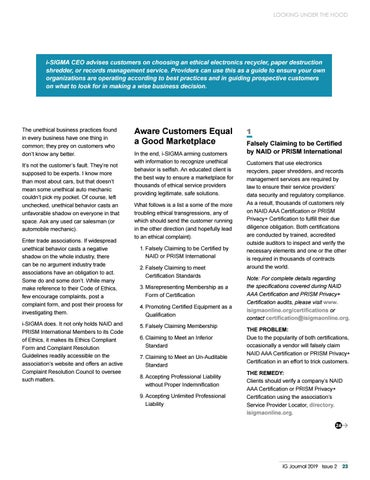 Page 25 of Looking Under the Hood: How Clients Can Look Beyond False Assurances