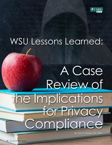 Page 32 of WSU Lessons Learned: A Case Review of the Implications for Privacy Compliance
