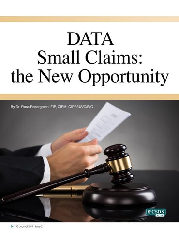 Page 36 of DATA Small Claims: the New Opportunity