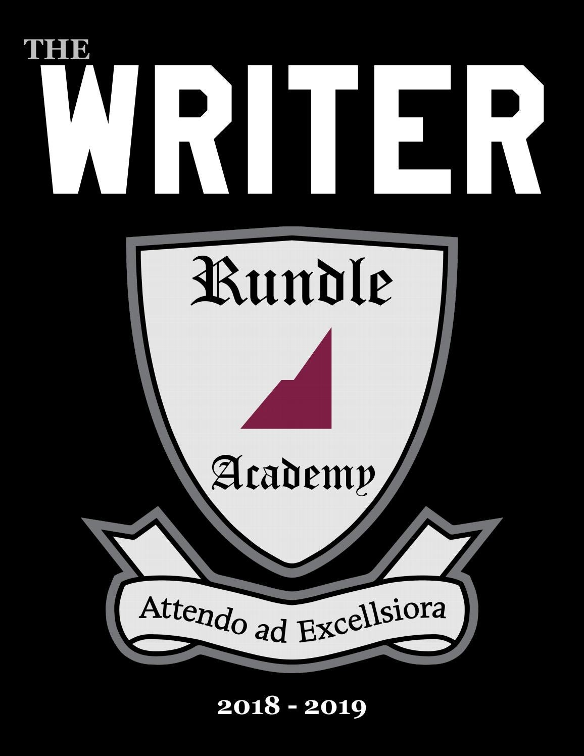 The Writer 2019 by Rundle Academy - issuu
